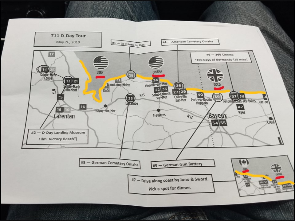 D-Day Maps -- 5 beaches